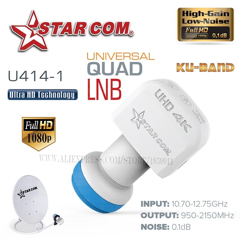 STAR COM Universal QUAD LNB Untuk Penerima TV Satelit KU BAND LNB - Audio dan video rumah - Foto 5