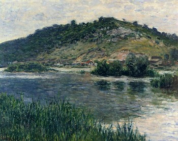 High quality Oil painting Canvas Reproductions Landscape at Port-Villez (1883) By Claude Monet hand painted