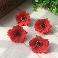 100 шт./лот 4 см маленькие шелковые вишневые цветы, Маленькие искусственные розы, цветы, Маковый венок, свадебное украшение для скрапбукинга