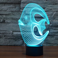 Amazing Magical Optical Illusion 3D LED Night Light Reef Fish USB Table Light Novelty Lighting Lamp Atmosphere Lights