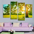 Fashion In 2018 Canvas Painting Tree Green Glass Nature Landscape Home Decoration On Wall For Living Room Restaurant F18851