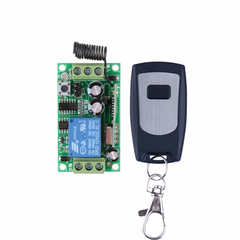 Wireless Remote Control Switches 12V 1CH Relay Receiver Transmitter Waterproof Learning Momentary Toggle Latched Power ON OFF 315 433mhz 12v 2ch remote control light on off switch 3transmitter 1receiver momentary toggle latched with relay indicator