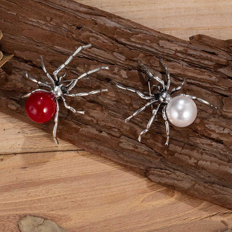 TDQUEEN 真珠のブローチ女性の新ファッションピンコスチュームジュエリークリスタルクモ私は大ブローチファムピンとブローチ