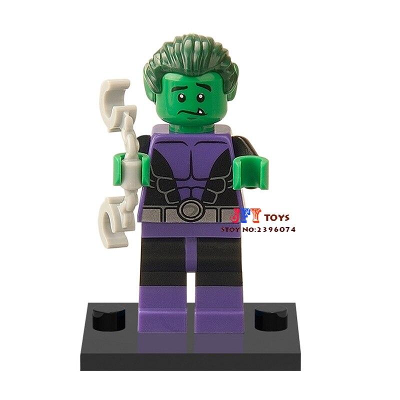 все цены на Single Sale star wars superhero Beast Boy building blocks model bricks toys for children brinquedos menino