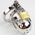 Cinturones de castidad masculinos chasity cock jaula de acero inoxidable con pico anillo key lock fetiche productos esclavas sexuales