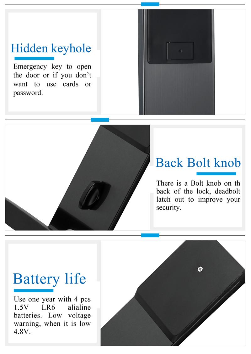 Security Electronic Combination Touch Screen Keypad Password Lock Door Home Office Door Lock