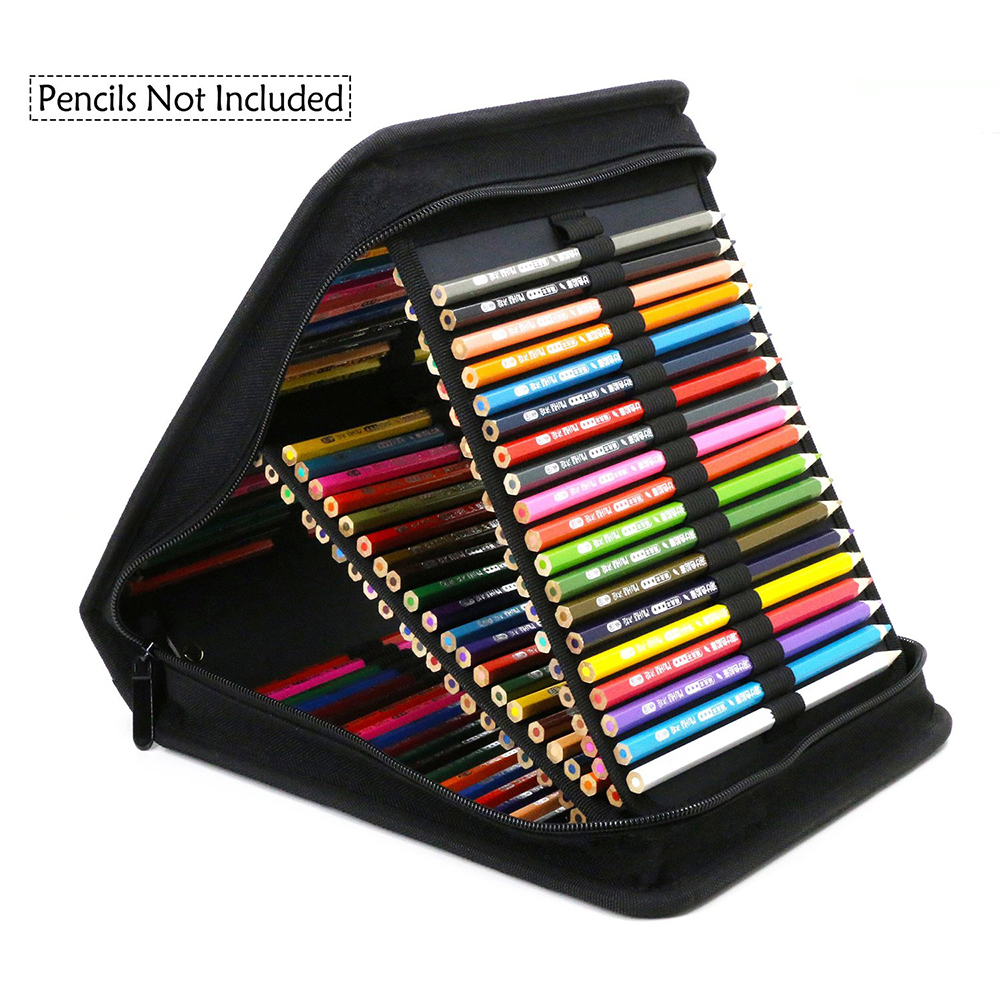120 Slots Oxford Canvas Case Large Capacity Pencil Bag For School Supplies pencilcase kawaii stationery kicute new 120 slots large capacity oxford canvas 4 layers school pencil case pencil bag art marker pen holder school supplies