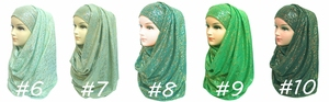 Image 3 - 10pcs/lot Gold Glitter Shimmer Scarf Shawl Head Wrap Plain Color Long Shawls Muslim Scarves Hijab