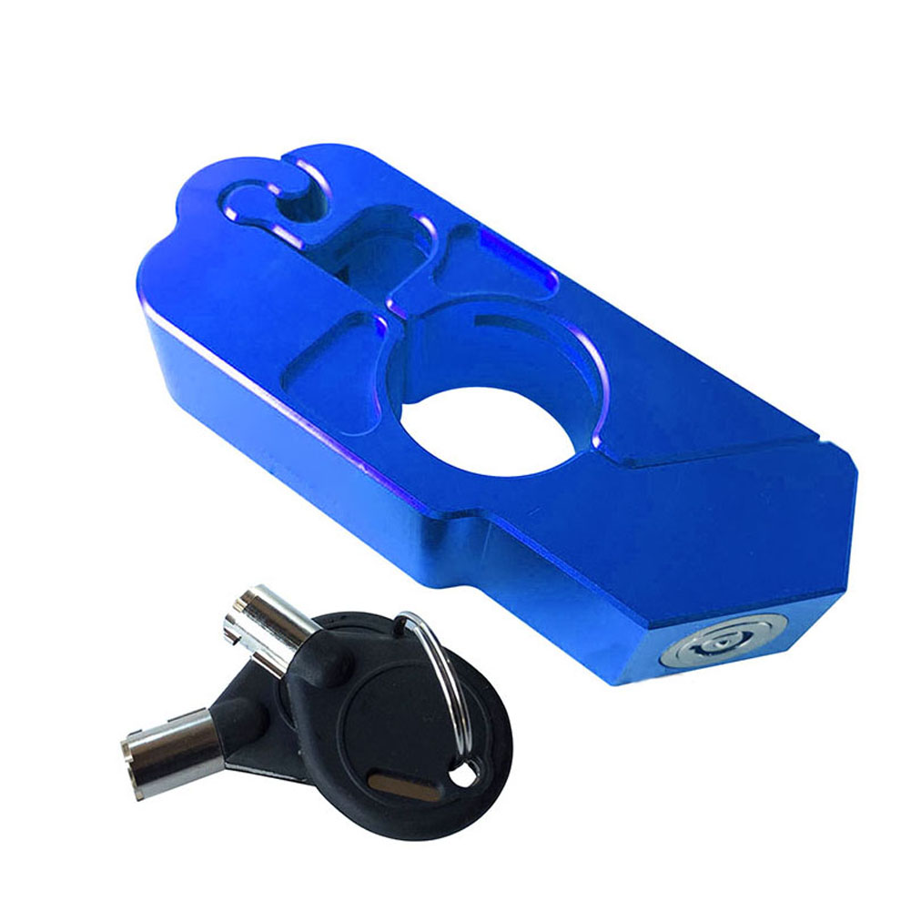 CNC Motorbike Scooter Bike Handlebar Safety Lock Brake Throttle Grip Protection With Keys NR-shipping