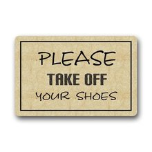 Memory Home Novelty Design Custom Please Take Off Your Shoes Doormat  Machine Washable Floor Bath Decor Mats Rug