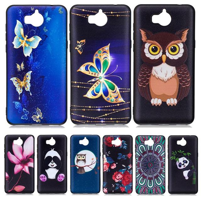 new styles 0ce73 09525 US $3.99 |Huawei Y5 2017 Case Silicone Back Cover Huawei Y5 2017 Phone  Cases Black Soft TPU Thin Slim Butterfly Panda owl Flower Patterns-in  Fitted ...