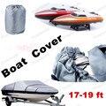 """Venda quente impermeável feixe de barco para 17-19ft 210D cinza 125 """" Trailerable peixe Ski V do casco tempo UV de proteção"""