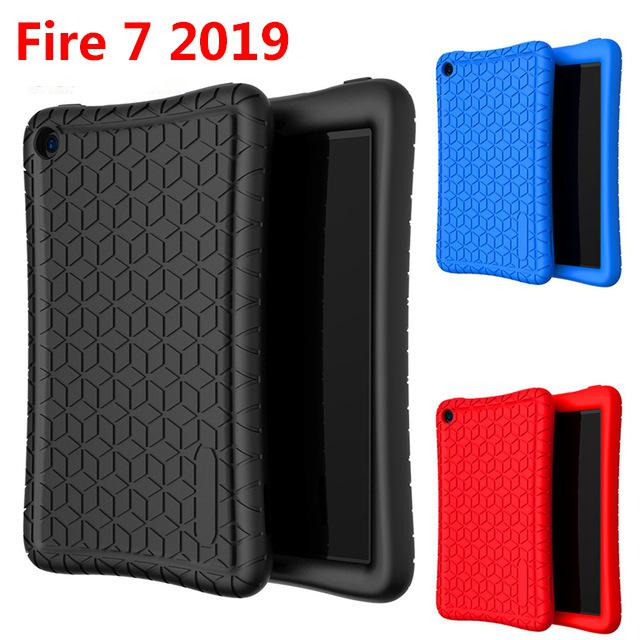 EastVita Fashion Tablet Cover Case for Amazon New Fire 7 Tablet 7 Inch Silicone Protective Case r20(China)