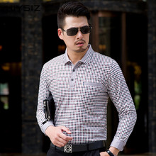 HIYSIZ T-Shirt Men 2019 New Fashion Trend Tops Brand Casual Long Sleeves Streetwear Turn-down Collar Autumn Tshirt For Men LT023 все цены