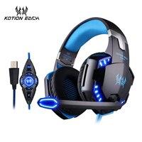 KOTION EACH G2200 Headphone Headset Luminous Headphone 7 1 Surround Sound Version Vibration With Mic Update
