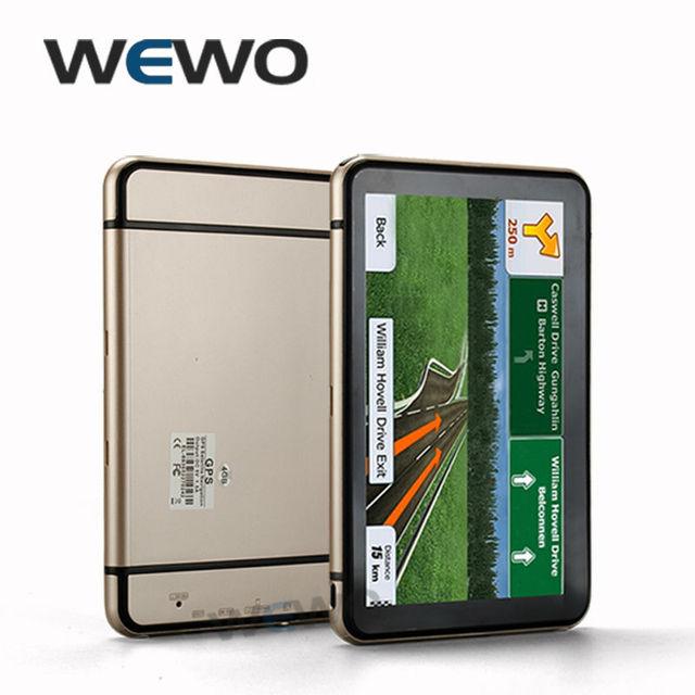 7 pulgadas Del Carro Del Coche de Navegación GPS con 256 MB Ram 8 GB Flashroom Bluetooth AV-IN 800 MHZ Wince 6.0 2016 Navigator mapas Freeshipping