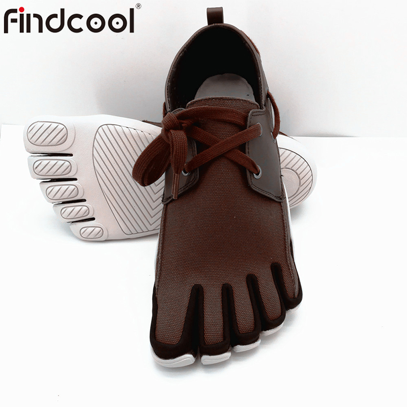 Findcool Men Five Fingers Shoes Barefoot Shoes for Outdoor Sports Shoes Breathable Lightweight