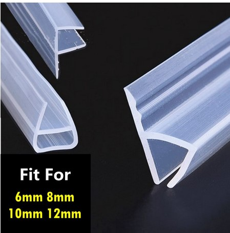 1 Meter6-12mm F U H Shape Glass Door Seals Silicone Rubber Shower Room Door Window Glass Seal Strip Weatherstrip Window Door