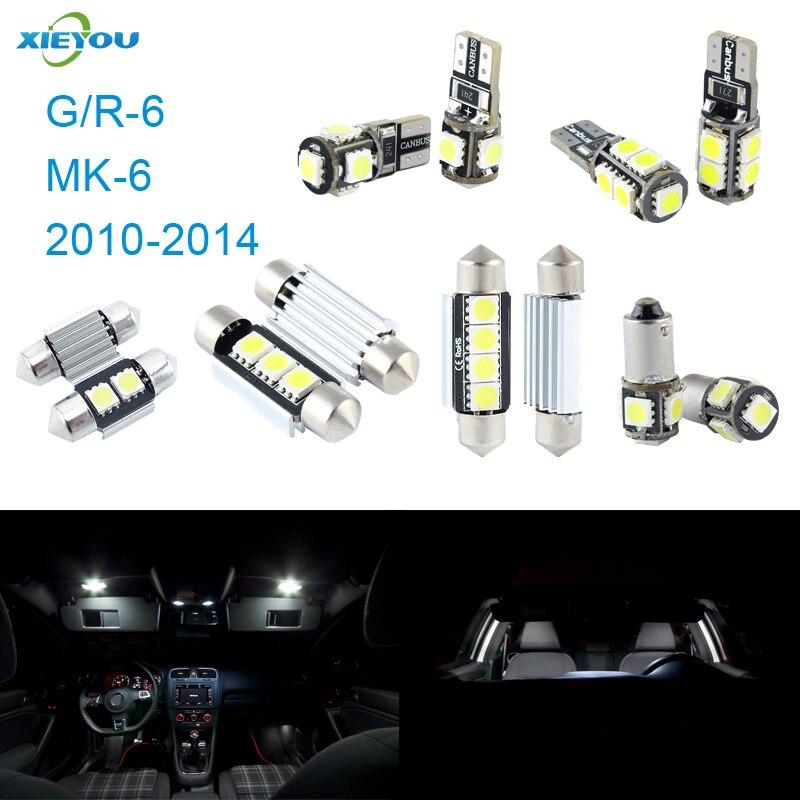 XIEYOU Paquete de kit de luces interiores LED Canbus de 11 piezas - Luces del coche