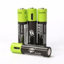 Universal de Bateria Ultra-eficiente para a para a Câmera Znter 4 Pcs Aaa 1.5 V 400 Mah Usb de Polímero Lítio Recarregável Câmera RC Drone