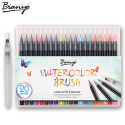 Bianyo 20 colors premium painting brush pens set soft flexible tip create watercolor copic markers for.jpg 250x250