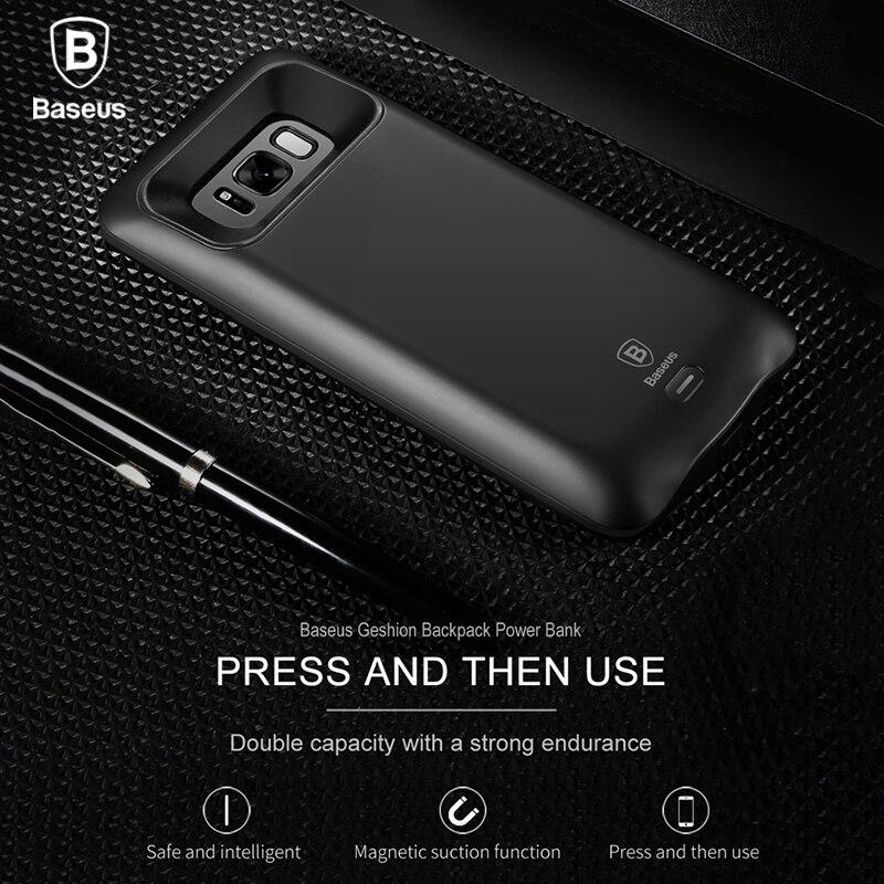 bilder für Baseus Power Case Für Samsung S8 plus 5000/5500 mAh Bewegliche Energienbank-ladegerät Unterstützung magnetischer halter Externer batterie