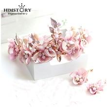 Romantic Pink Fabric Flower Headband Hair Accessories Princess Bridal Bridesmaids Wedding Headdress Handmade Hairbands Ornament цена в Москве и Питере