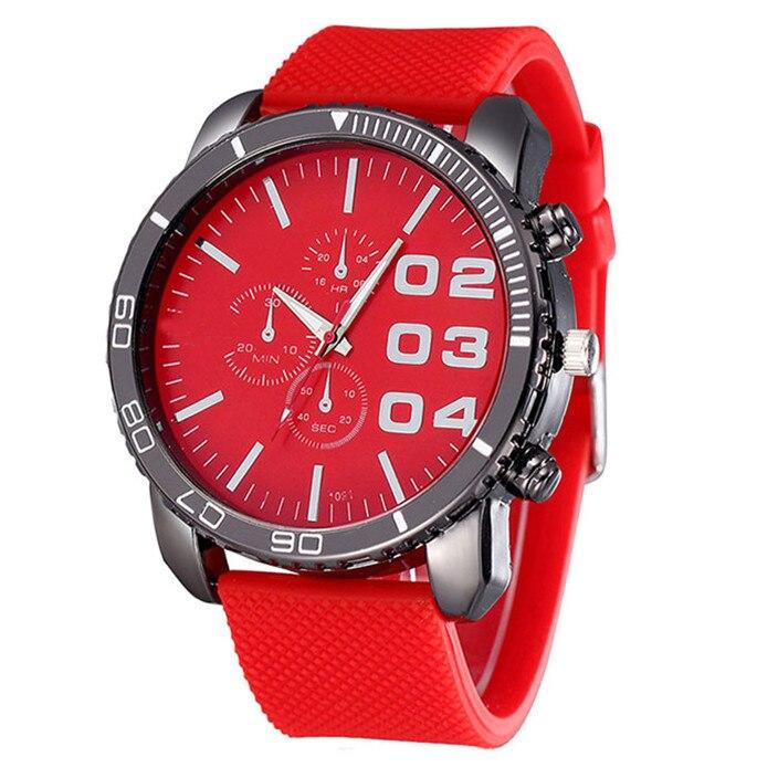 Novel design Mens Stylish Luxury Huge Big Dial Silicone Band Quartz Wrist Watch Sports Watch Dropshipping