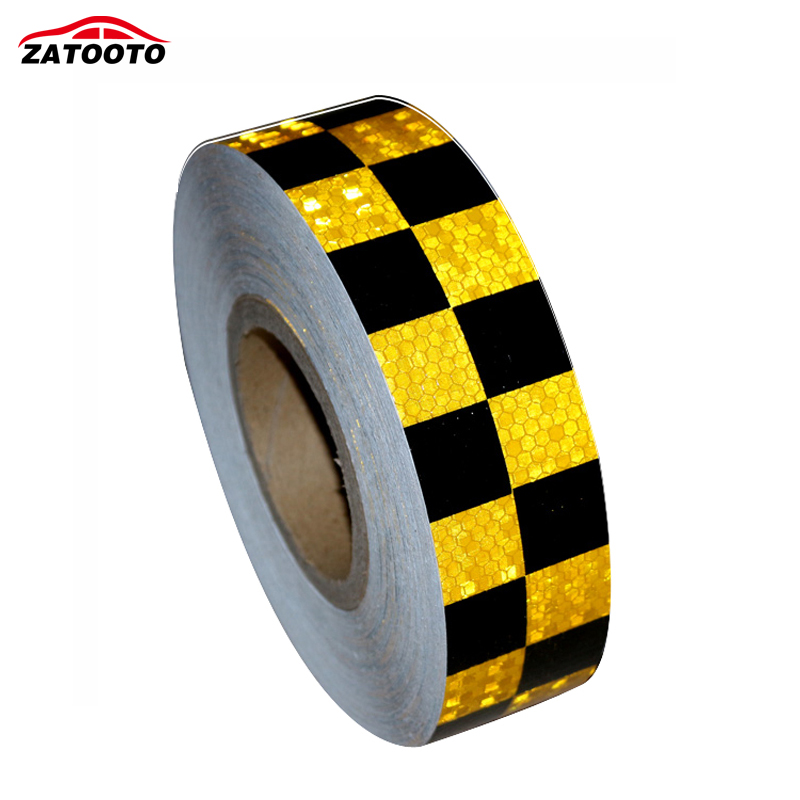 Car Truck Reflective Safety Warning Conspicuity Tape Film Sticker Self-Adhesive
