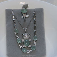 Original Burmese Jadeite And 925 Silver Set Pendant Earring Bracelet With Certificated Handmade Rare Sara Shi