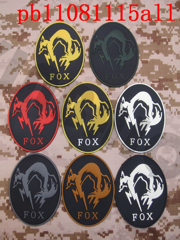 Badges 1 Pc Mgs Metal Gear Solid Snake Badges To Let The World Be Morale Tactics 3d Pvc Badge
