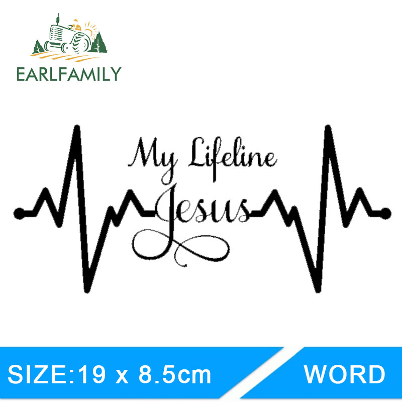 Exterior Accessories Automobiles & Motorcycles Earlfamily 19cm X 8.5cm Funny My Lifeline Jesus Decal Sticker Christian God Religious Cute Car Truck Laptop Decal Car Sticker