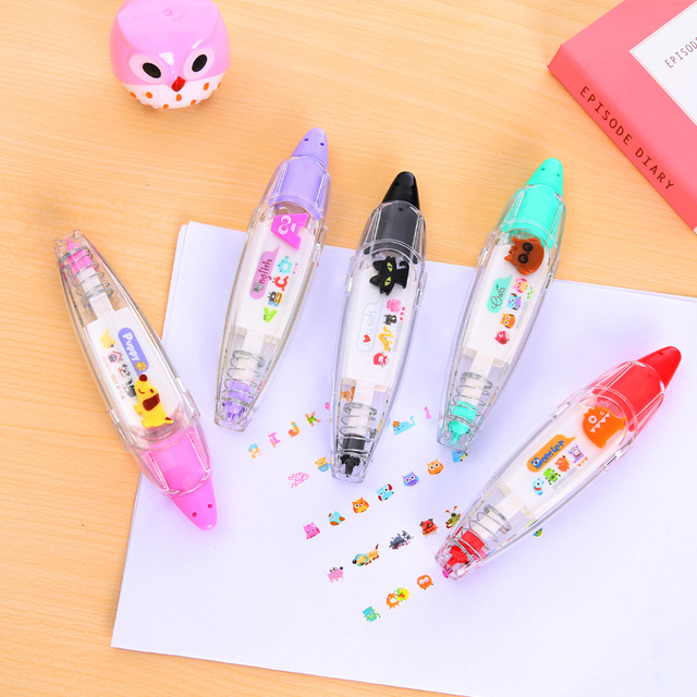 1 x cartoon animals correction tape masking tape adhesive tape kawaii stationery school supplies DIY scrapbooking Stickers