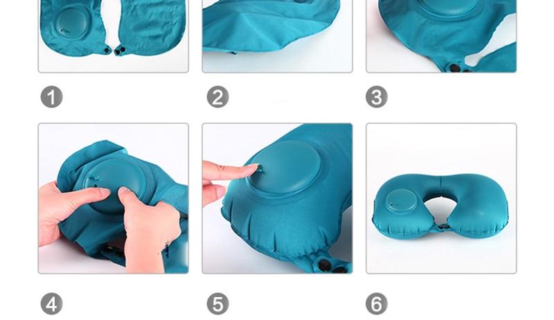 almofada cervical nap aliviar fadiga almofada fisioterapia viagens azul instrumento
