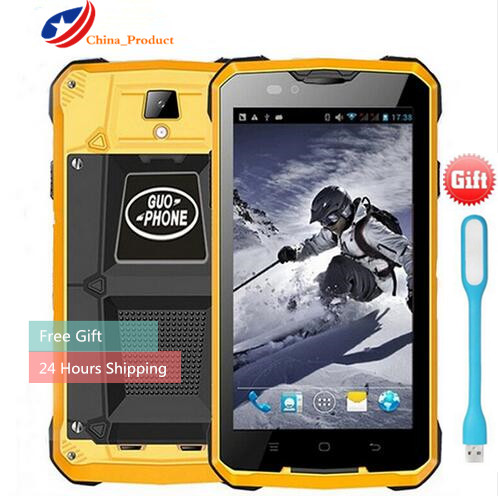 24 Hours Shipping Guophone V12 4000mAH Battery waterproof shockproof 5 0 GPS MTK6572 Dual Core