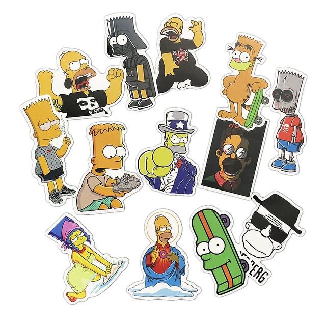 Simpson Cartoon Waterproof Stickers