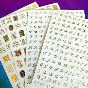 Image 2 - Mais novo WG 637 642 inglês alfabeto 3d etiqueta da arte do prego decalque do prego carimbo exportação japão projetos strass decorações