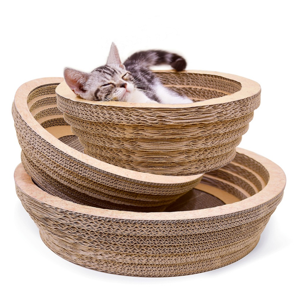 Large Space Bowl Type Cat Scratch Board Scratching Pad For Cat Nest Toy Cat Scratcher For Grinding Claws Cat Scratcher Toy Mat