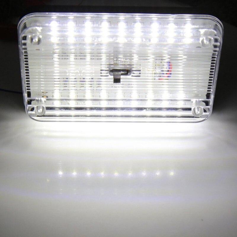 2018 New Car Top Lighting Car Top Lights Auto 36 LEDs Car Dome Light 36 SMD LED Rectangular Ceiling Lamp Interior-White