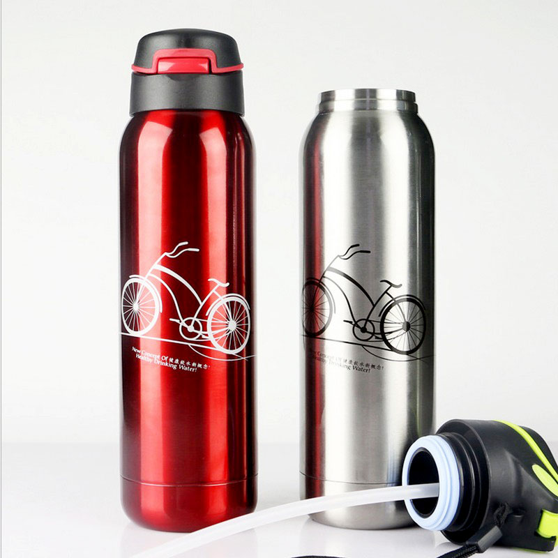 500ml Food Grade Stainless Stell Vacuum Travel Tour Sport Water Bottle Quality Coffee Tea Space Bottle Three Colors For Option