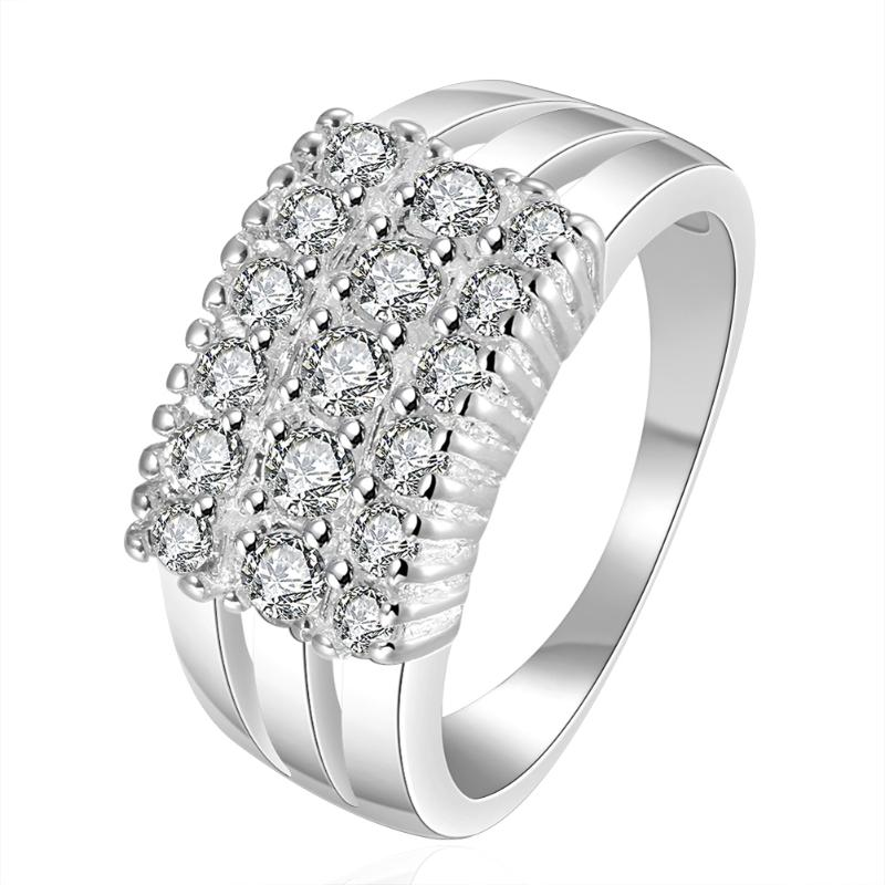 Crystal Rings New Design Luxury Wedding Finger Ring US Cocktail Party Indispensable Accessory Women Finger ornament