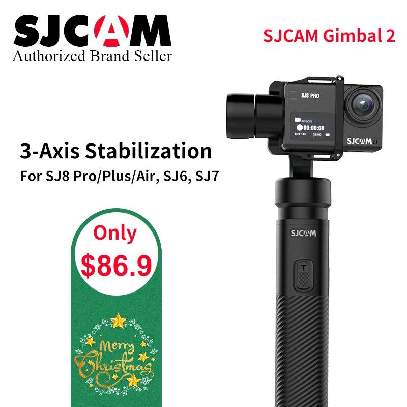 Pas cher SJCAM Accessoires SJCAM SJ8 Pro SJ8 plus SJ8 Air De Poche 3-Axe Cardan 2 Stabilisateur Power Batterie pour SJ 7 ÉTOILES s6 4 k CAM