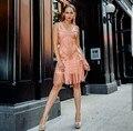 2016 новый высокая мода sexy женщин черный розовый синий белый бинт dress оптовая