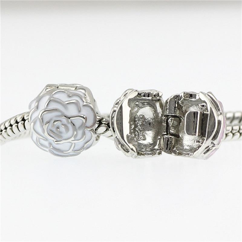 5 cuentas de flores de color se adapta a Pandora Charms pulseras de ...
