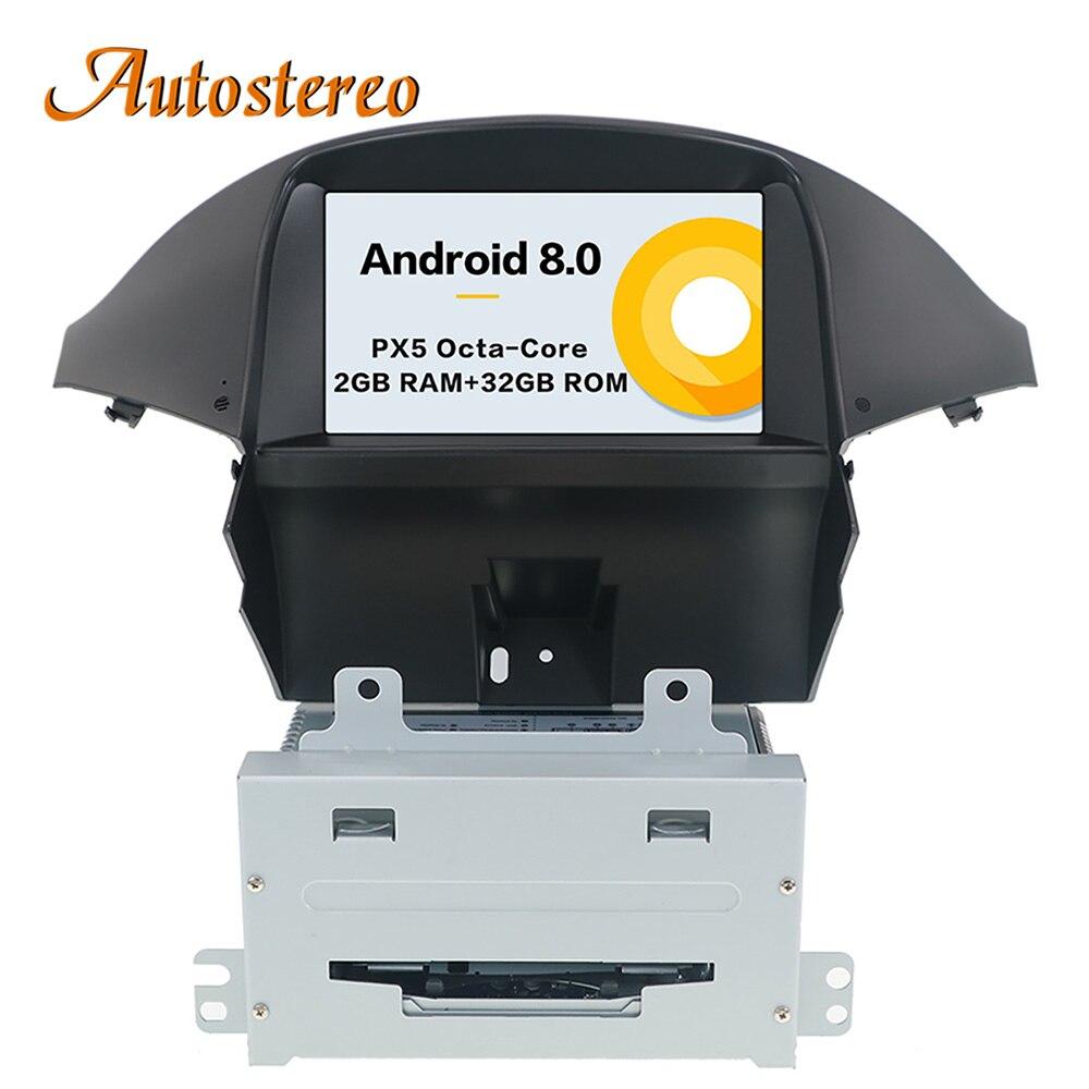 Android 8 Auto di Navigazione GPS per auto CD Lettore DVD Per Chevrolet orlando 2011 + auto stereo multimedia radio registratore a nastro unità di testa
