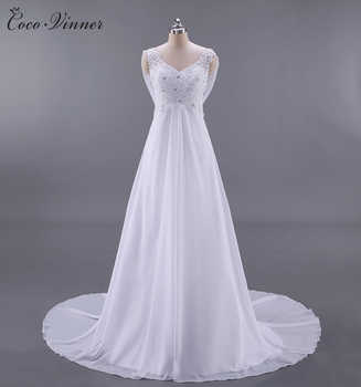 Real Photos French Style BOHO Beach Wedding Dress 2019 Backless High Waist Sexy A line Plus Size Country Wedding Dresses W0125 - DISCOUNT ITEM  33% OFF Weddings & Events