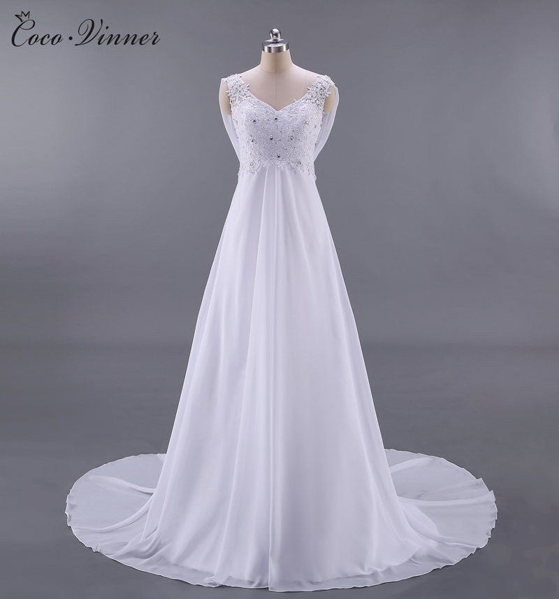 Real Photos French Style BOHO Beach Wedding Dress  Backless High Waist Sexy A Line Plus Size Country Wedding Dresses W0125