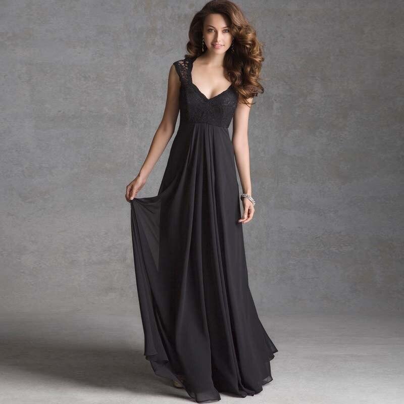 Online Get Cheap Black V Neck Bridesmaid Dress -Aliexpress.com ...