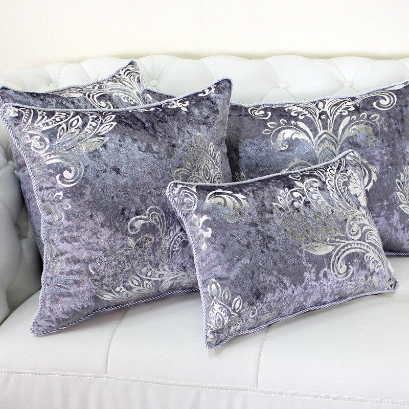 Luxurious Bronzing Velvet Home Decor Pillow Cover With Tassle Cushion Cover Velour Decoration Pillowcase Decorative Pillowsham
