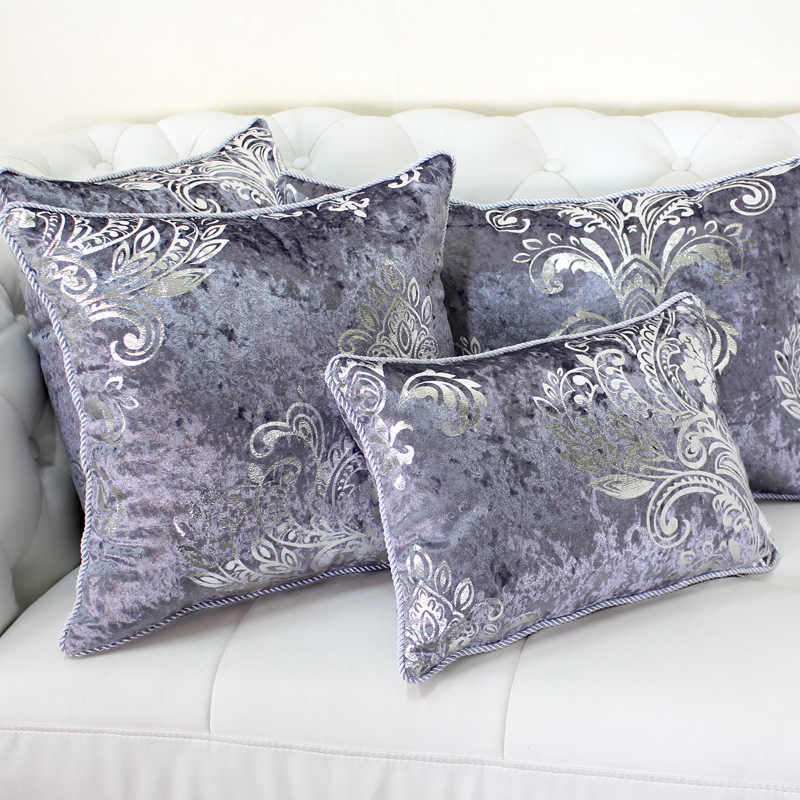 Luxurious Bronzing Velvet Home Decor Pillow Cover with Tassle Cushion Cover Velour Decoration Pillowcase decorative pillowsham